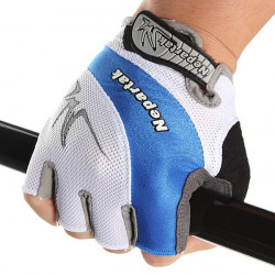 Sport Bicycle Cycling Bike Sillcone Breathable Half Finger Gloves