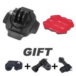 Sport 360 Grad Helm Kopfhalterung einstellen Adapter für Sport Kamera