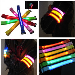 Sport Cykling LED Safety Arm Band Flash Wrist Straps