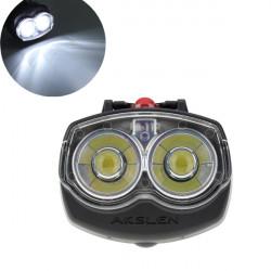 Vandtæt 2 LED Cykel Front Lys Lommelygte med Clamp