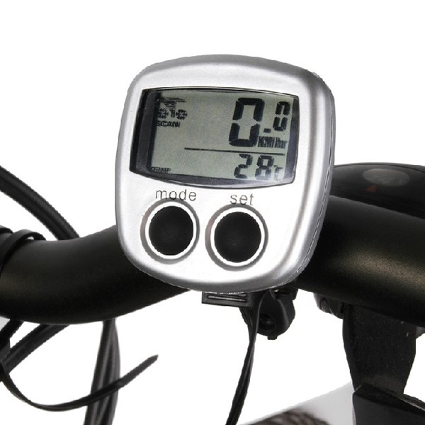Waterproof Wireless Bike Bicycle Computer LED Odometer Speedometer Cycling