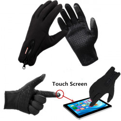 Winter Sports Cycling Skiing Touch Screen Windproof Fleece Gloves