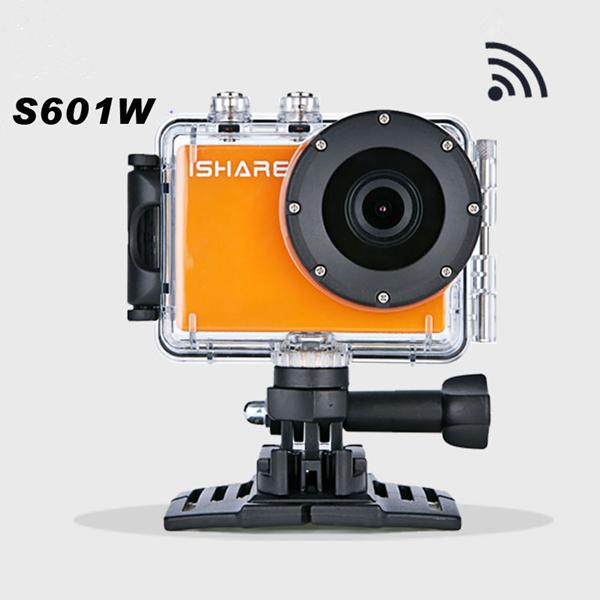 iShare S601W 1080P Sport HD Vandtæt Kamera WIFI Dykning Videokamera Cykel