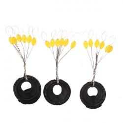 100PCS Yellow Fishing Space Bean Fishing Pin Accessory Tackle