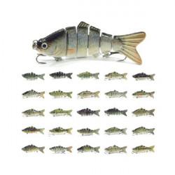 10CM Fiskebete Lure 6 Sektioner Fisk Hårda Swimbait