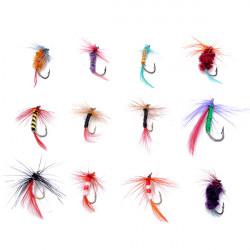 12 Stück / Set Fliegen Angelhaken Fliegen Bass Karpfen Köder