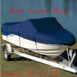 17' 18'19'V-Hull Fish/Ski Trailerable Boat Cover Waterproof Boat Cover