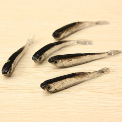 1Ställ 10st Mjuk Silikon Fiskedrag Bete Sötvatten Saltvatten