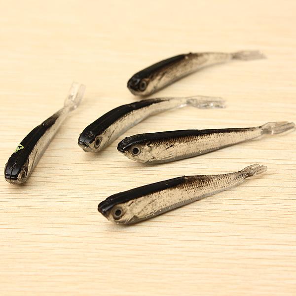 1Ställ 10st Mjuk Silikon Fiskedrag Bete Sötvatten Saltvatten Fiske