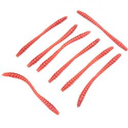 20stk 6cm Silicon Worm Bait Fiskeri Lure Bait Grub