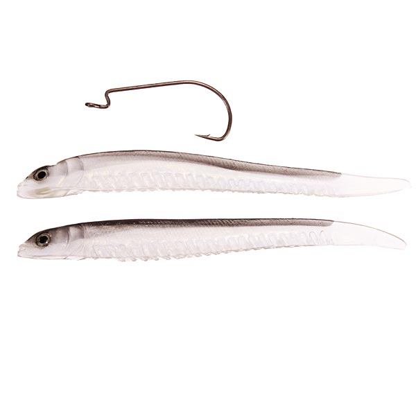 2PCS Bass Fishing Lure Soft Fish Loach Bionic Lures With Crank Hook Fishing