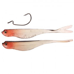 2PCS Soft Bait Bass Fishing Lure Bionic False Lures With Crank Hook