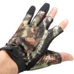 3 Cut Finger Anti-Slip Camouflage Fiskeri Jagt Handsker Vand Proof Fiskeri