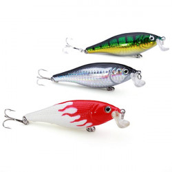 3pcs/lot Minnow Hard Fishing Lures Bass Catfish Blackfish Baits
