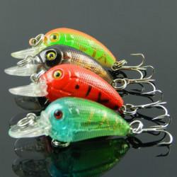4.5cm Biomimetic Fishing lures CrankBait Bass Hooks