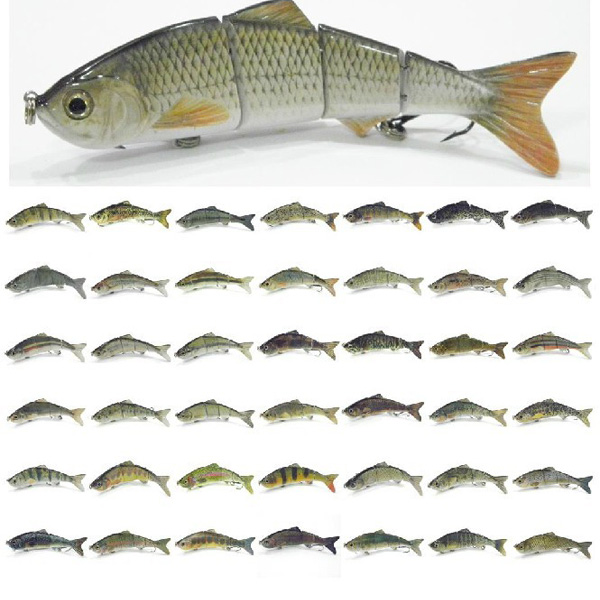 4 Segments Hard Crankbait Lure Fishing Lure Bait 15CM/35G Fishing