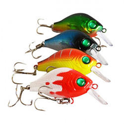 55mm 8g Crank Sinking Hard Bait Bass Lures Color Assorted