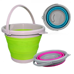 5L Silicone Fold Bucket Outdoor Retractable Bucket Collapsible Barrels