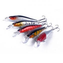 5 Stk Fiskegrej Endegrej Naturtro Dykning Bait Hooks 8cm