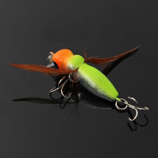 6cm 3.4 G Cicada Agn Fiskegrej Endegrej Float Endegrej med Hooks Fiskeri