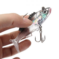 7.6cm 15g Paillette Fishing Lures Soft Lure Crankbaits Tackle Hooks