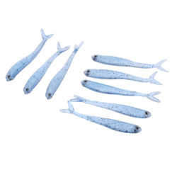 8cm Simulation Fishing Lures Soft Silicone Hook Baits 8pcs