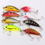 8pcs 5cm 3.6g Fishing Lures Bass Crank Bait Lure Tackle with hooks Fishing