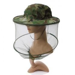 Camouflage Mosquito Hat Mesh Kvinder Mænd Midge Insect Bucket Fiskeri Cap