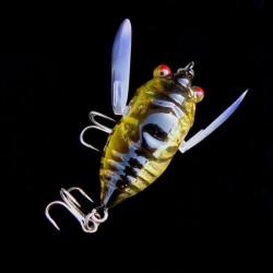 Zikade 6g Perch Insektenköder Köder Fischen lebensechte Köder mit Haken
