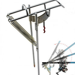 Double Spring Fishing Stand Bracket Fishing Rod Pole Stand