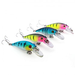Fishing Floating Bait Minnow Bass Lure Multi-corlors Fishing Tackle