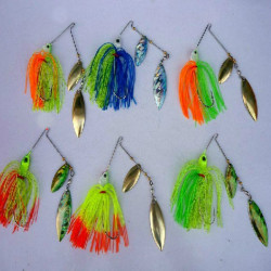 Fishing Lure Buzzbait Spinner Bait Rotary Lures Bait Metal Hard Lure