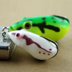Weiche Fischköder Köder Einzelhaken Ray Frosch falsche Köder