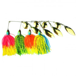 Fiskeri Lure Spinner Agn Rotary Composite Pailletter Buzzbait Bass Fisk Lokke