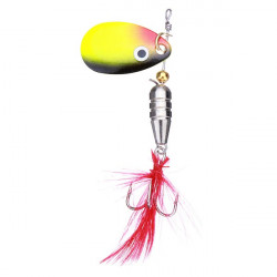 Fishing Spinner Spoon Lure Feather Treble Hook