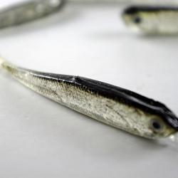 Grå Mjuk Silikon Fiskedrag Bete Sötvatten Saltvatten