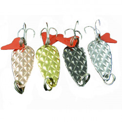 Hard Metal Lure Biomimetic Sinking Sequins Bass Spoon Hook
