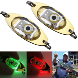 LED Light Bait Deep Drop Underwater Flashing Lamp Metal Light Bait
