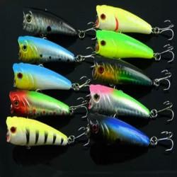 Lure Popper Fisk Form Mete Krok för Bass