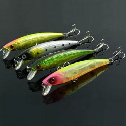 New Minnow Lure Bass Hard baits Biomimicry Fishing Tackle