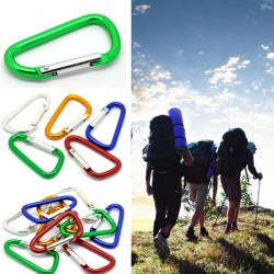 Outdoor Aluminum D-Ring Snap Carabiner Clip Hook Key Chain