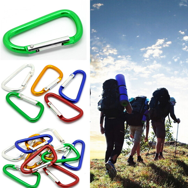 Outdoor Aluminum D-Ring Snap Carabiner Clip Hook Key Chain Fishing