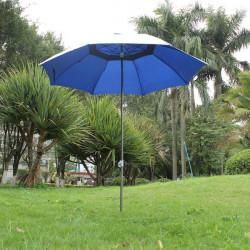 Udendørs Anti-Uv Solbeskyttelse Haven Paraply med Jern Stang