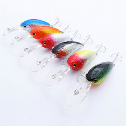 Plastic Minnow Hard Crank Fishing Lure Bass Bait Tackle 11cm