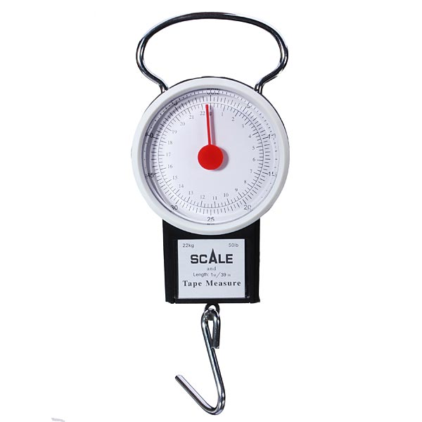 Portable Fishing Luggage Scale with Hook Rule Electronic Fishing Tool Fishing
