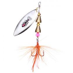 Spinner Lure Roterande Paljetter Fjäder Bass Krok
