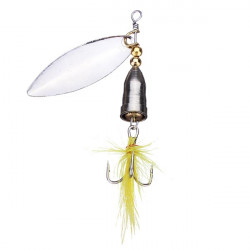 Spinner Spoon Lure Sequins Feather Bass Hook