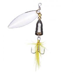 Spinner Skeddrag Paljetter Feather Bass Hook