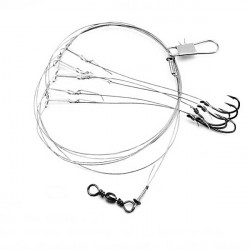 Steel String Hook Barb Fishing Hooks Sea Fishing Hook