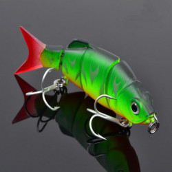 Submerged Type Three Joint Bionic Hard Bait Bass Lures